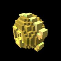 Golden Iridescent Dragon Egg